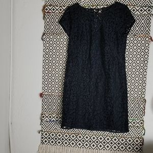 Used Loft Lace Black Dress
